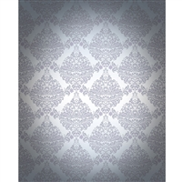 Gray Vignette Damask Printed Backdrop