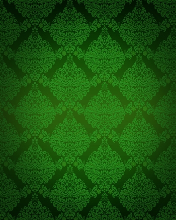 Lime Green Damask Printed Backdrop