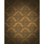 Brown Damask Printed Backdrop