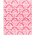 Pink & White Damask Printed Backdrop