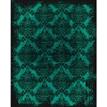 Teal/Black Grunge Damask Printed Backdrop