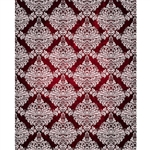 Red/White Grunge Damask Printed Backdrop