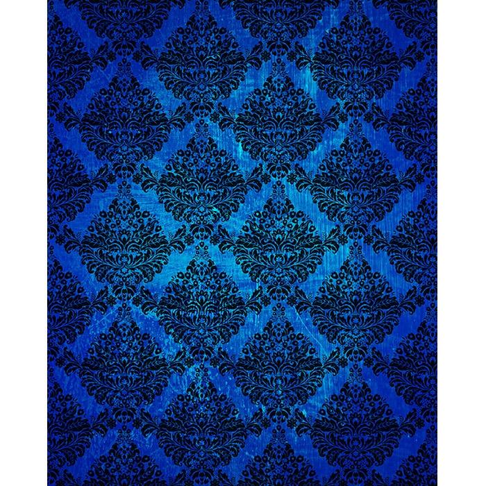 dark blue grunge damask printed backdrop backdrop express