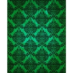 Green/Black Grunge Damask Printed Backdrop