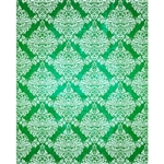 Green/White Grunge Damask Printed Backdrop