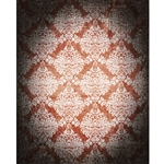 Brown/White Grunge Damask Printed Backdrop