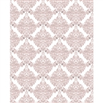White & Blush Damask Printed Backdrop