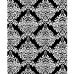 Black & White Damask Printed Backdrop