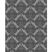 Dark Gray Damask Printed Backdrop