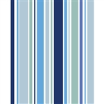 Ocean Blues Striped Printed Backdrop