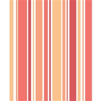 Peach & Orange Striped Printed Backdrop