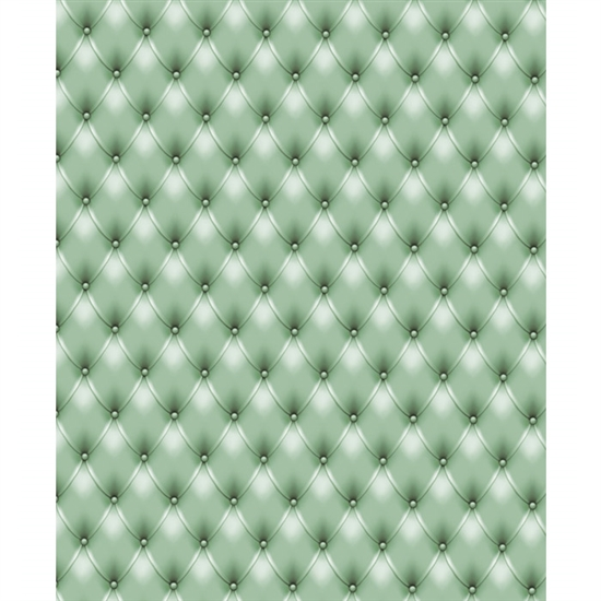 Green Tufted Printed Backdrop