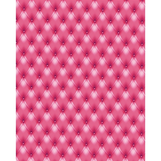 Hot Pink Tufted Printed Backdrop Backdrop Express