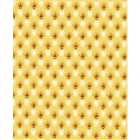 Golden Yellow Tufted Printed Backdrop