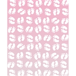Pink Ombre Footprints Printed Backdrop