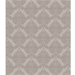 Taupe Gray Damask Printed Backdrop