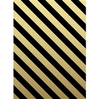 Black and Gold Stripes Printed Backdrop