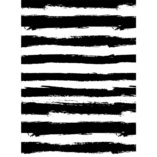 Painted Black Stripes Printed Backdrop