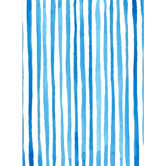 Ocean Blue Stripes Printed Backdrop