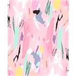 Pink Abstract Printed Backdrop