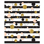 Abstract Dots on Stripes Printed Backdrop