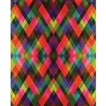 Multicolored Harlequin Printed Backdrop