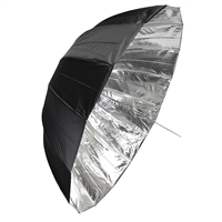 "65"" Silver/Black Deep Umbrella"