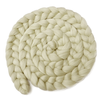 6ft Soft White Wool Braid Set