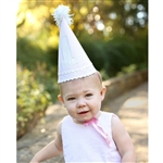 Pink Searsucker 1st Birthday Hat