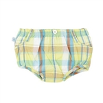 Yellow Plaid Boy's Bloomer