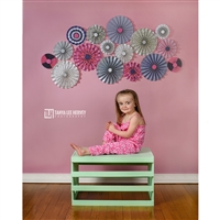 Pinwheels on Coral Printed Backdrop
