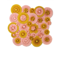 Peach and Gold Pinwheels Printed Backdrop
