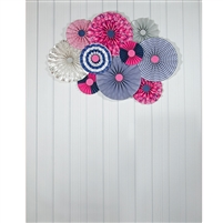 Blue and Pink Pinwheels Printed Backdrop