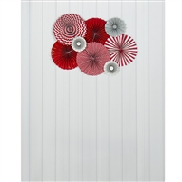 Red Pinwheels Printed Backdrop