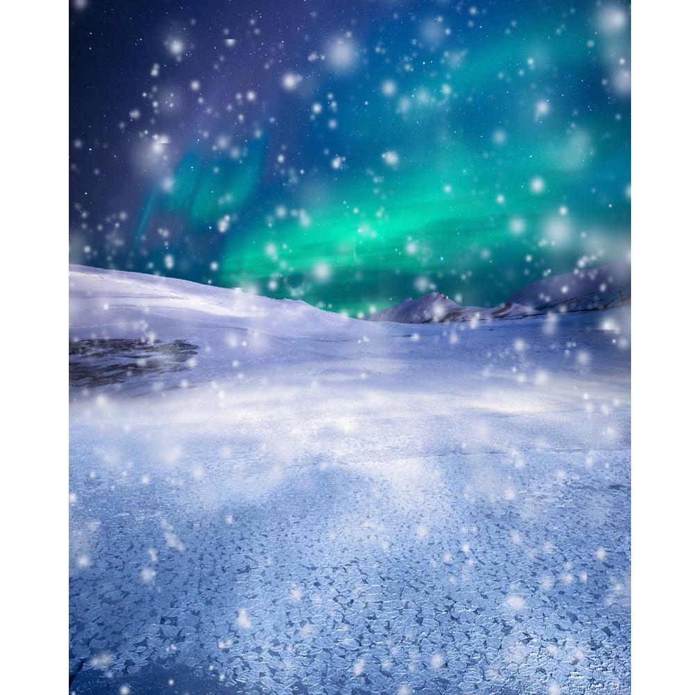 Mystical Snow Storm Printed Backdrop Backdrop Express