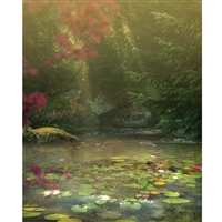 Fantasy Pond Printed Backdrop