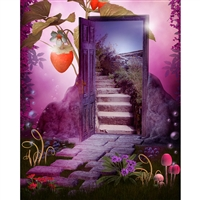 Wonderland Portal Printed Backdrop