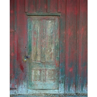 Rustic Barn Door Printed Backdrop