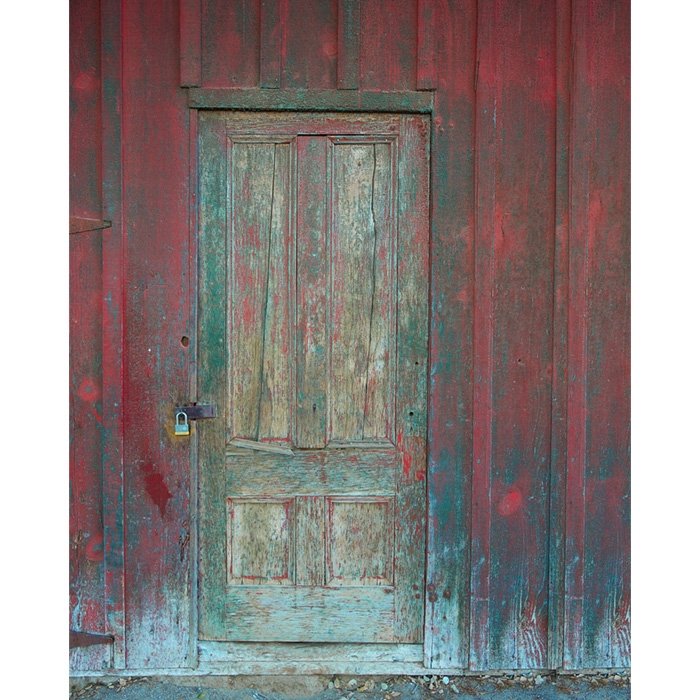 Rustic Barn Door Printed Backdrop Lightweight Fabric 6ft W X
