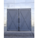 Steel Barn Doors Printed Backdrop