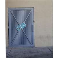 Fire Room Steel Door Printed Backdrop