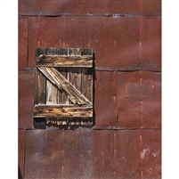 Rusted Western Building Printed Backdrop