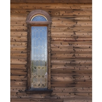 Wooden Church Window Printed Backdrop