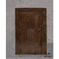 Rusted Access Door Printed Backdrop