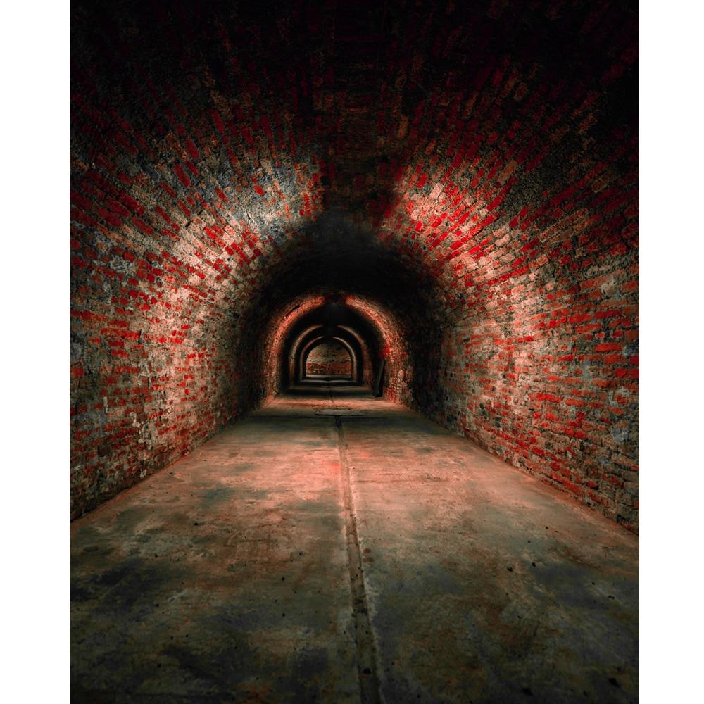 Brick Tunnel Printed Backdrop Backdrop Express