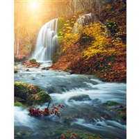 Autumn Waterfall Printed Backdrop