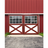 Red Barn Doors Printed Backdrop