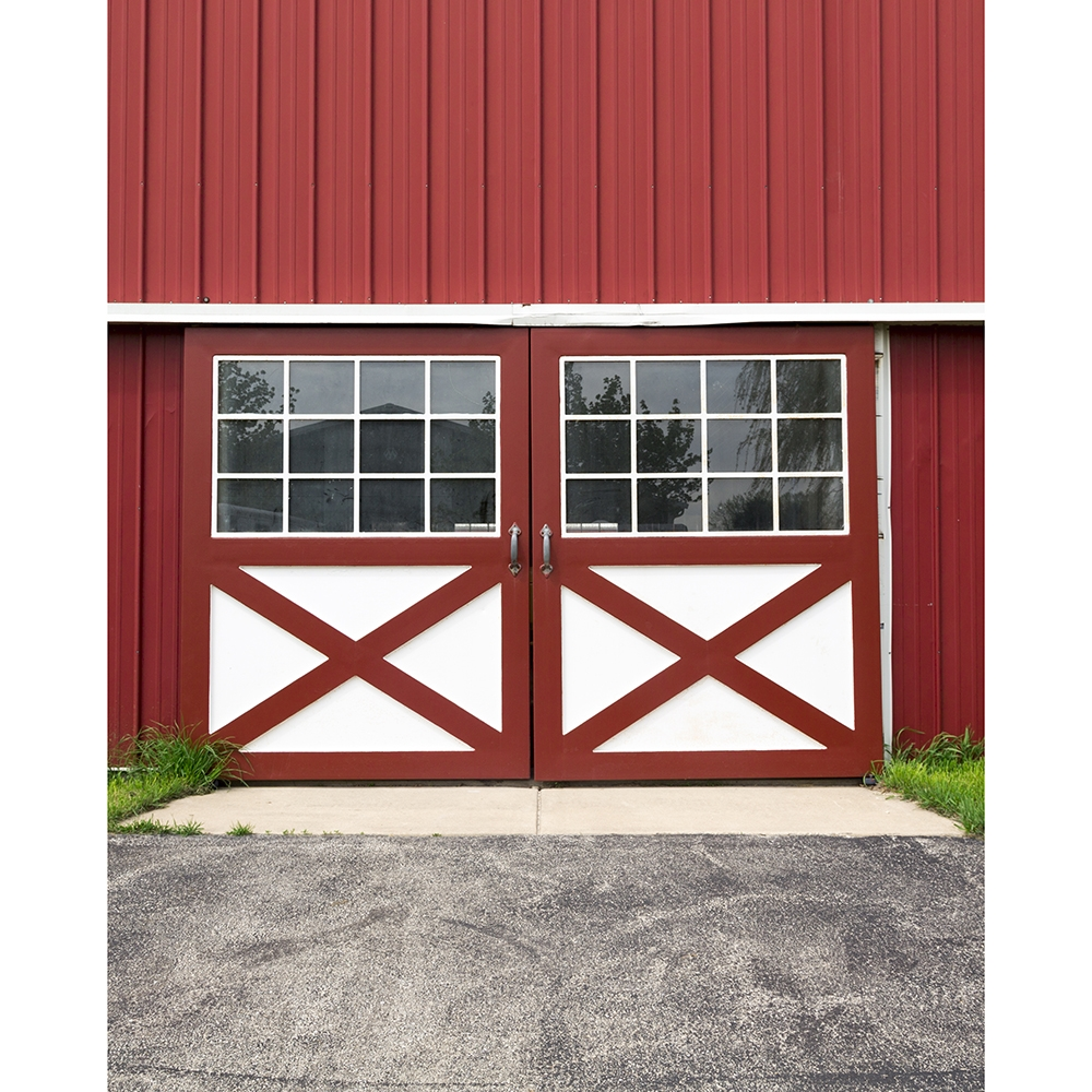 Red Barn Doors Printed Backdrop Backdrop Express
