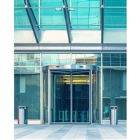 Modern Revolving Door Printed Backdrop