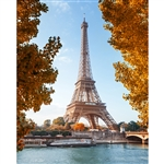 Paris in Fall Printed Backdrop